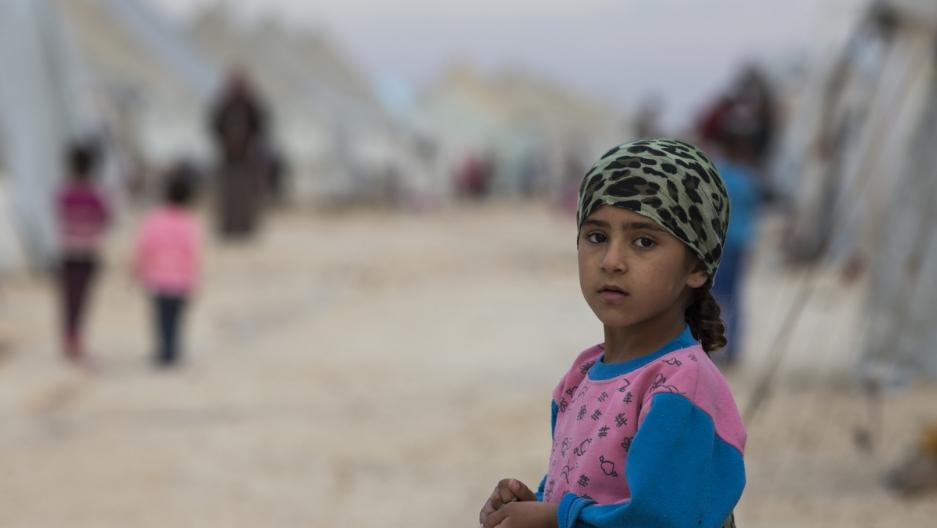 Syrian Refugee Girl in Alcakale refugee camp
