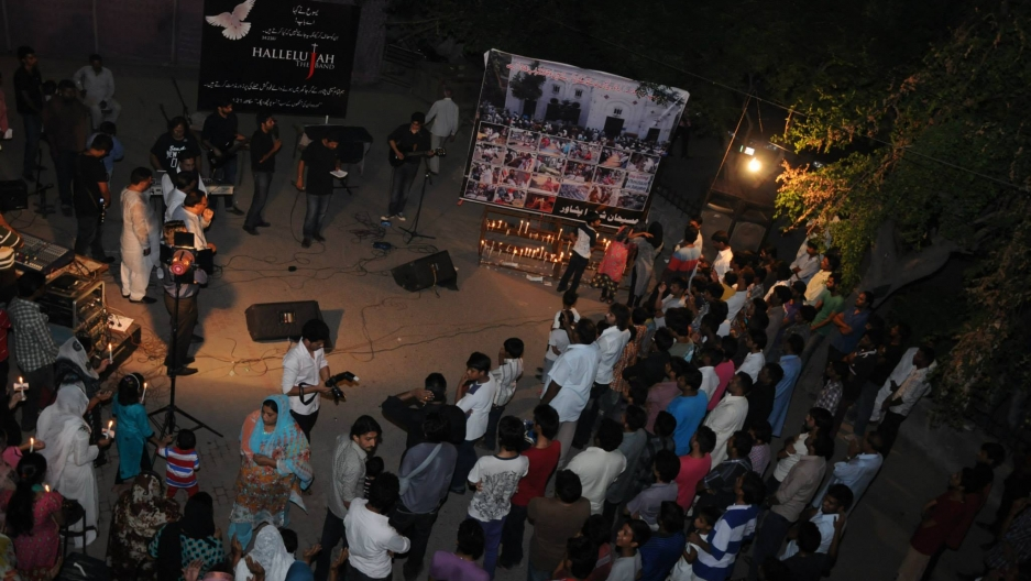 Hallelujah holds a worship performance for the victims of the Peshawar church bombing in September 2013.