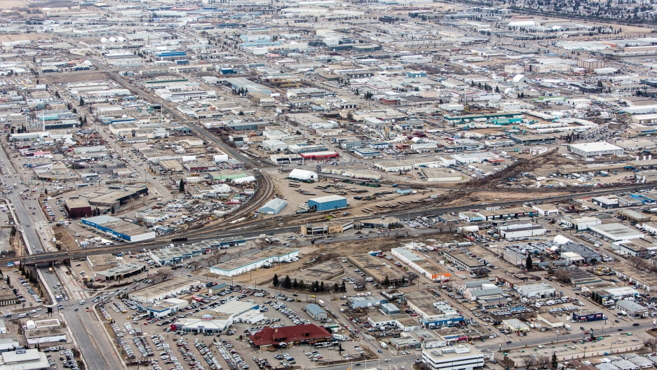 Edmonton has developed a booming industrial sector for supporting tar sands exploration and mining equipment.