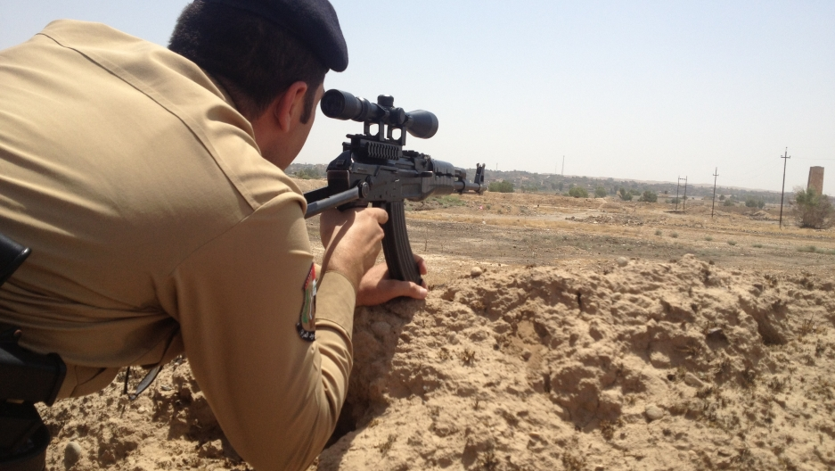 A sniper on the frontline