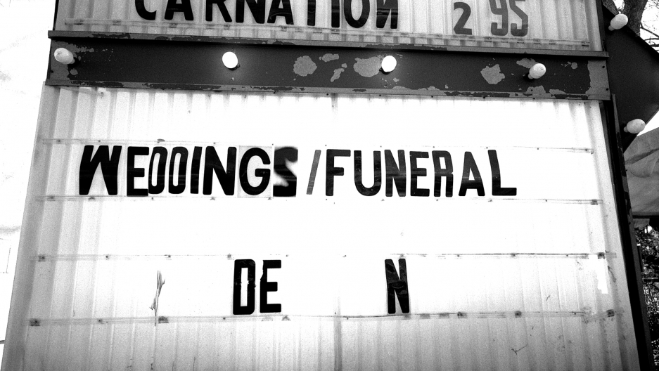Advertising for a flower shop catering to weddings and funerals, Houston, Texas