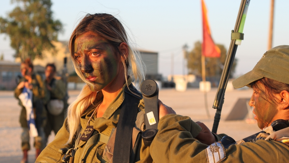 An Israeli soldier in the mostly-female Caracal combat unit of the Israeli army.