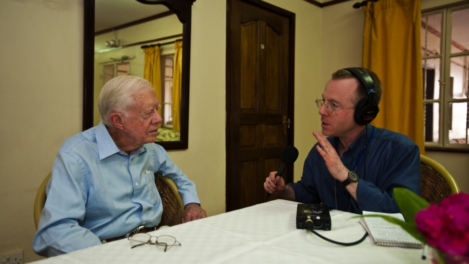 President Jimmy Carter interviewed by The World's David Baron.