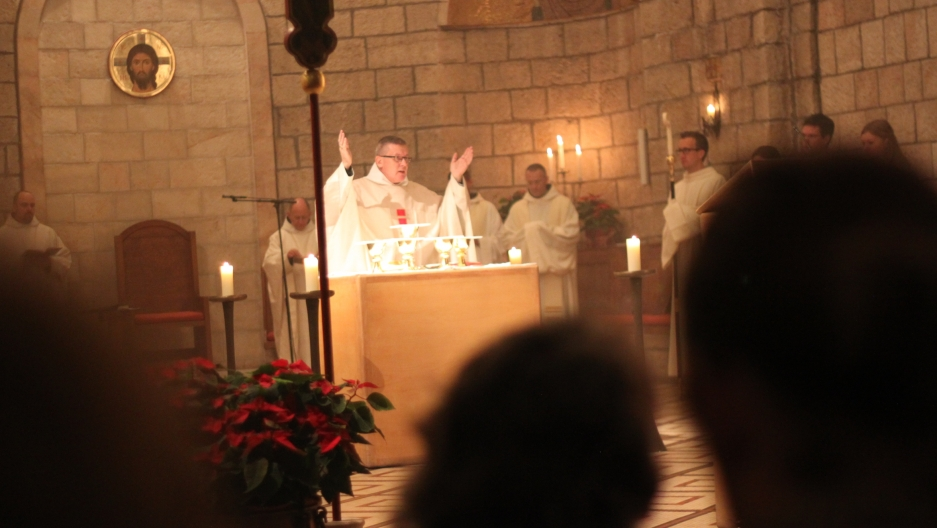 Israelis stayed up past 1:30 a.m. attending midnight mass.