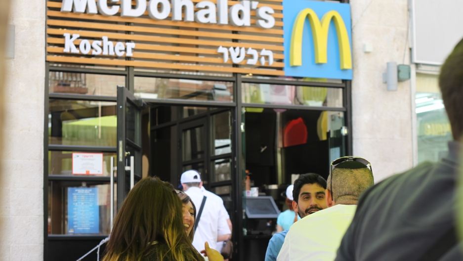 On Passover, McDonalds in Jerusalem serves Kosher-for-Passover buns made of potato-starch instead of normal buns.