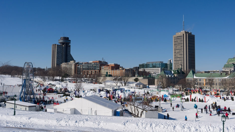 Quebec's winter carnival grounds.