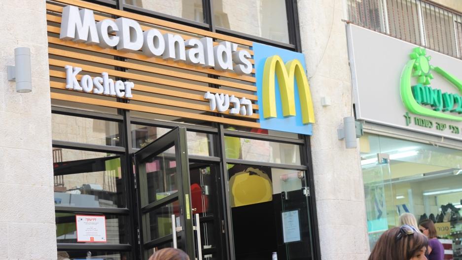 McDonalds in downtown Jerusalem is certified kosher.