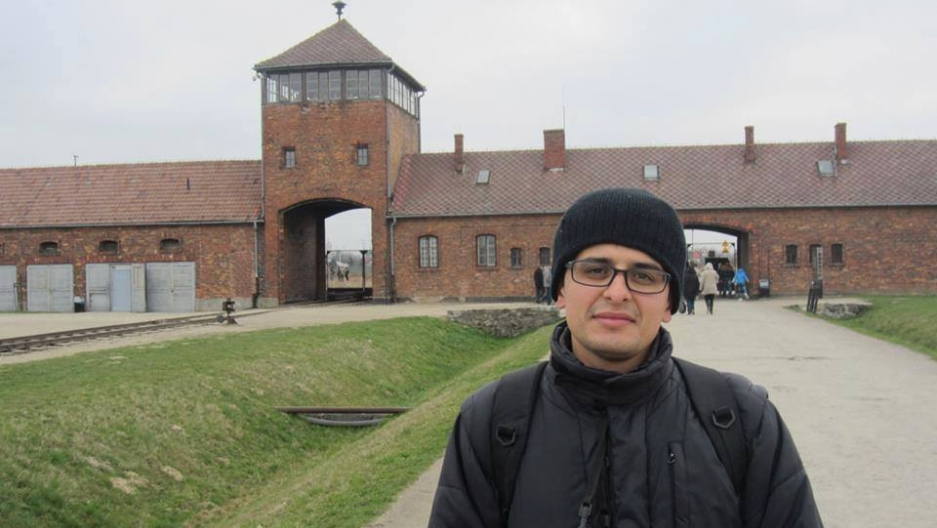 Nasser Alqaddi, 26, a master's student at Al Quds University in east Jerusalem, attended the student trip to Auschwitz in March.