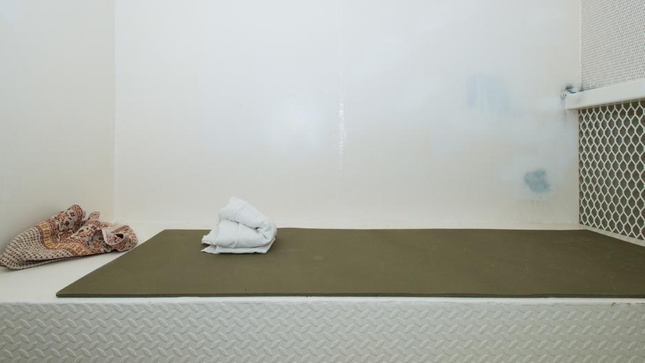 A cell at Guantanamo's Camp Echo.