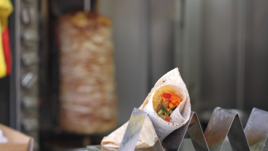 The special Passover pita wraps are made in a factory in Tel Aviv.