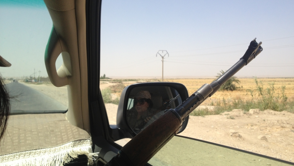 The Peshmerga are on high alert on the last stretch of the road to Jalula.