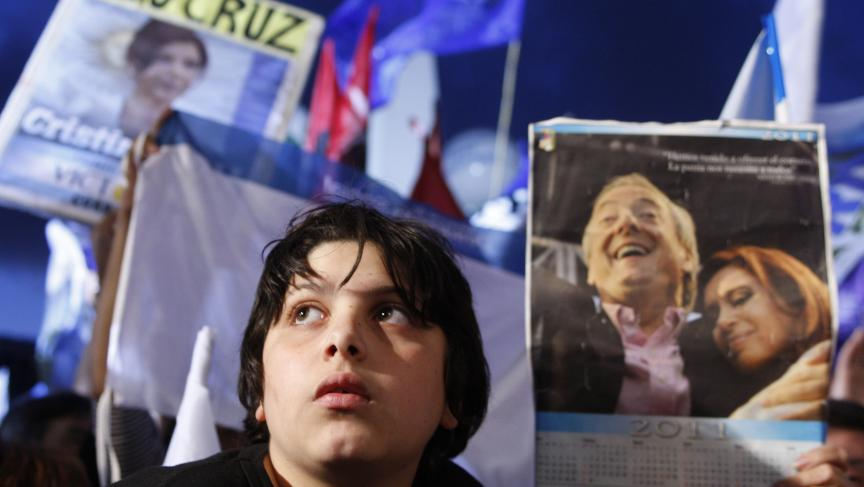 A young supporter of President Cristina Fernandez de Kirchner at an election rally. The president hopes to harness the power of teen voters at elections later this month.