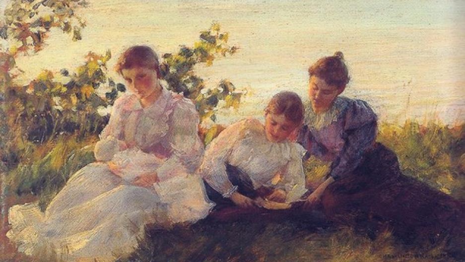 "American painter Charles Courtney Curran's ""Three Women"" (1894)"