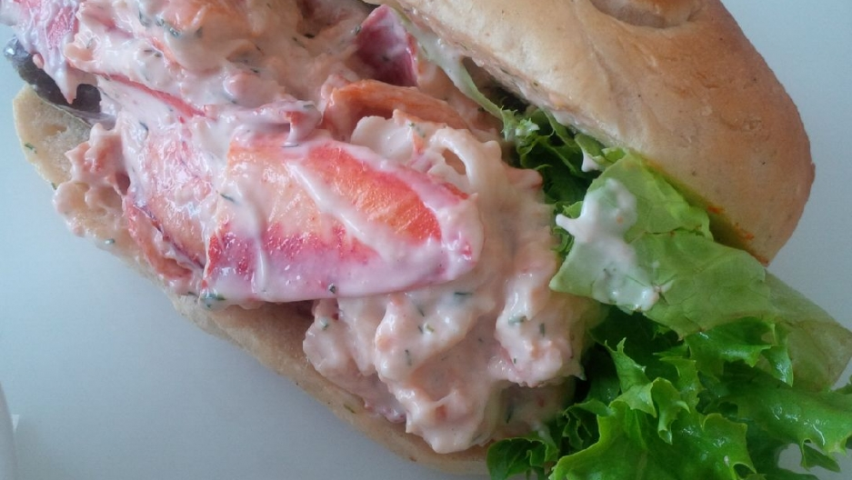 Cape Enrage serves a lobster roll a bit heavier on the mayo