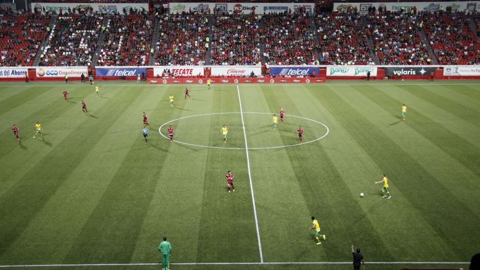 Tijuana's Xolos playing a pre-season match against Argentine soccer club Defensa y Justicia at Estadio Caliente in Tijuana, Mexico.