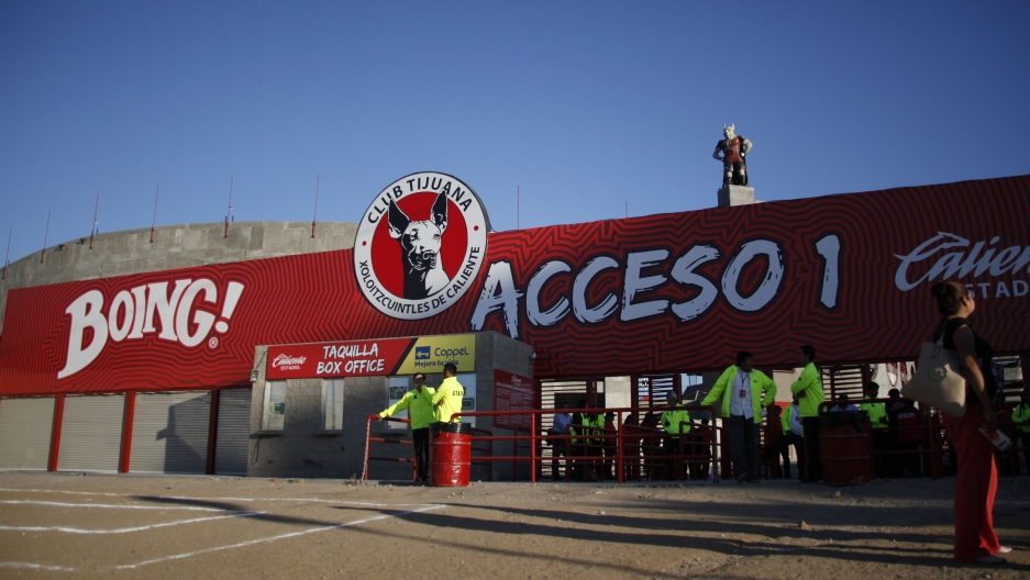 Estadio Caliente, in Tijuana, Mexico, is a hotbed of soccer fans on game days. The Xolos soccer team established themselves around 2007 and were a second division team. The team has since bumped up to the first division of Mexico's professional soccer lea