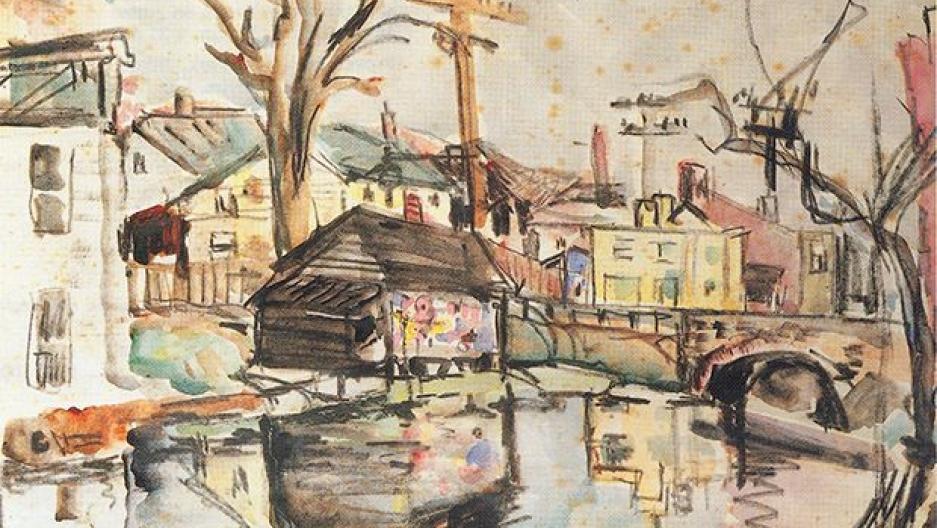 "American painter Stuart Davis' ""Houses Along a Canal"" (1914 -18)"