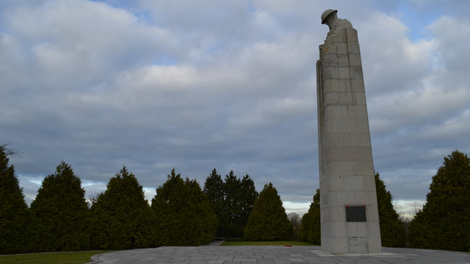 Canadian memorial near Ypres