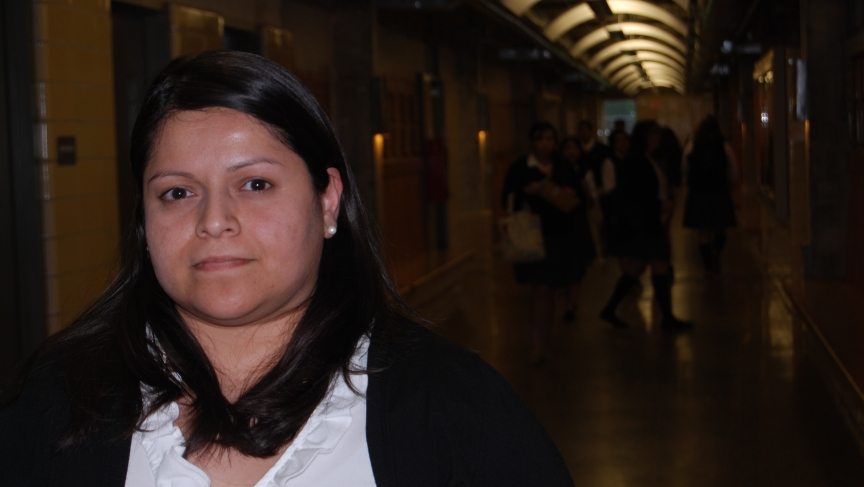 Mexican-born Sujey Romoero, who was able to become a US citizen because of the 1986 immigration overhaul in Congress, worries about immigrant families today if the DREAM Act were to pass.