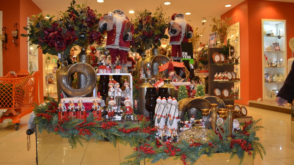 Many decorations, including lights, ornaments, figurines and other tchotchkes are on display for the season.
