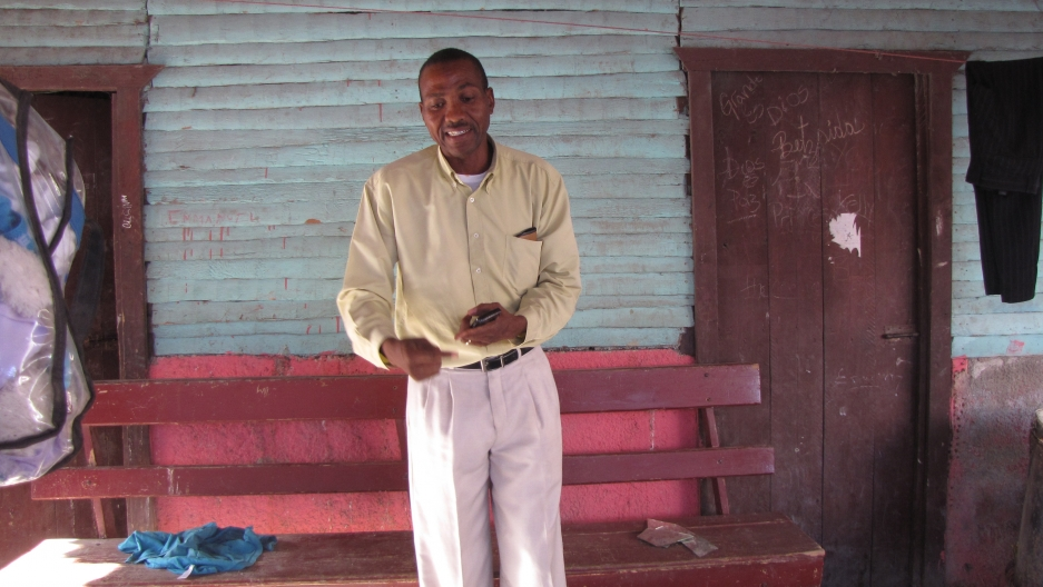 David Perez was born in the Dominican Republic, got a law degree, became a teacher, and is now mayor of Batey Ocho, but his daughter is barred from getting an ID showing she is Dominican.