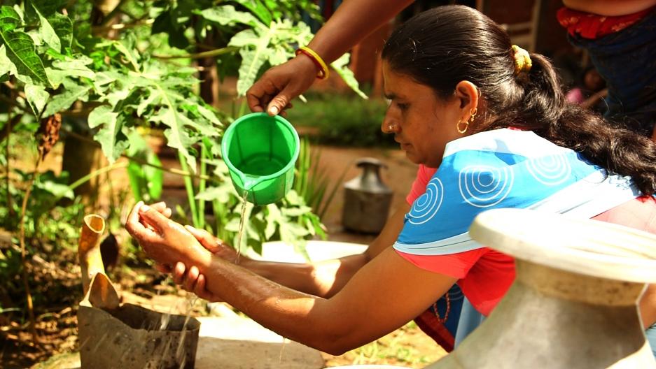 Health worker handwash