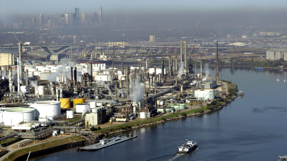 The Houston Ship Channel stretches 52 miles from the Gulf of Mexico to the city of Houston. Sea levels have risen 2.2 feet over the last century at Galveston, the main barrier island protecting the Ship Channel from a big storm.