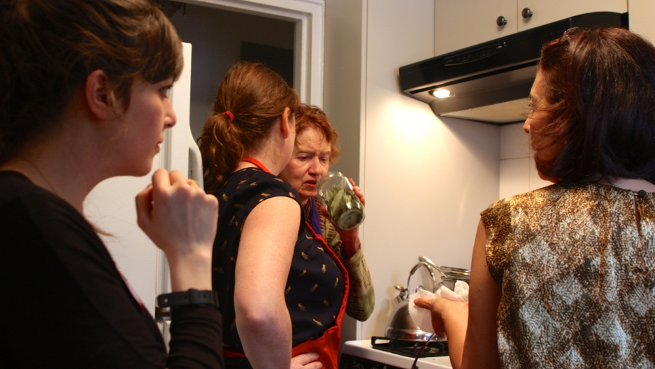 Despina's New York kitchen crammed in all  the participants.
