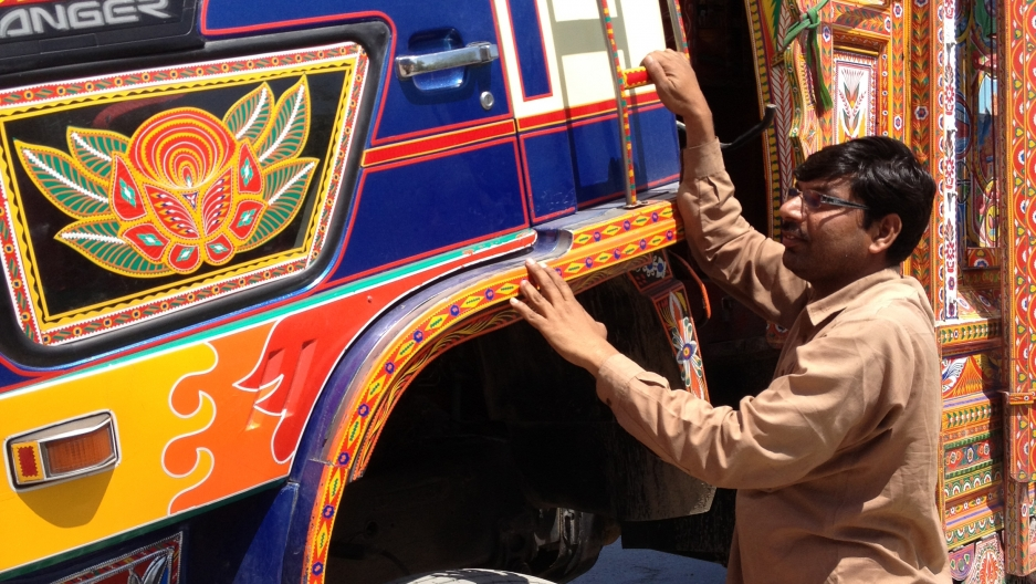 Pakistan truck driver