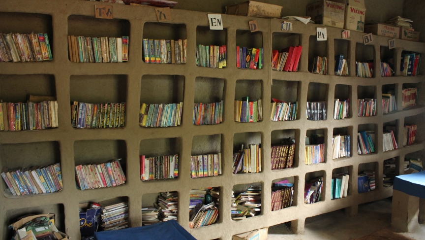 Awra Amba's public library lends out books in Amharic, English, and French.