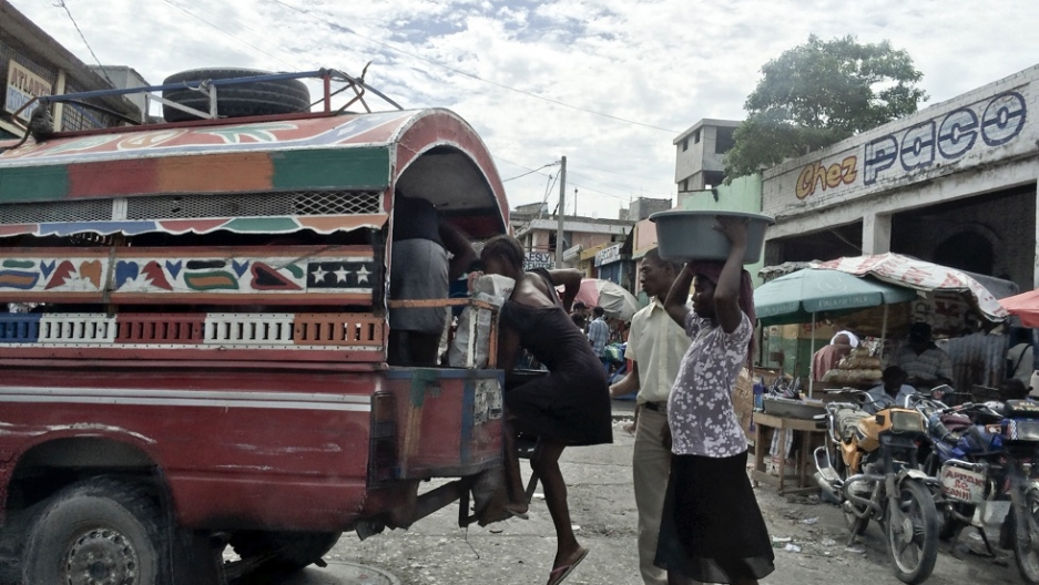 When ambulances aren't available, people who are seriously hurt or ill must use tap-taps, crowded pickup trucks that are turned into taxis. Before the services was started, they were one of the only ways Haitians could get to the hospital.