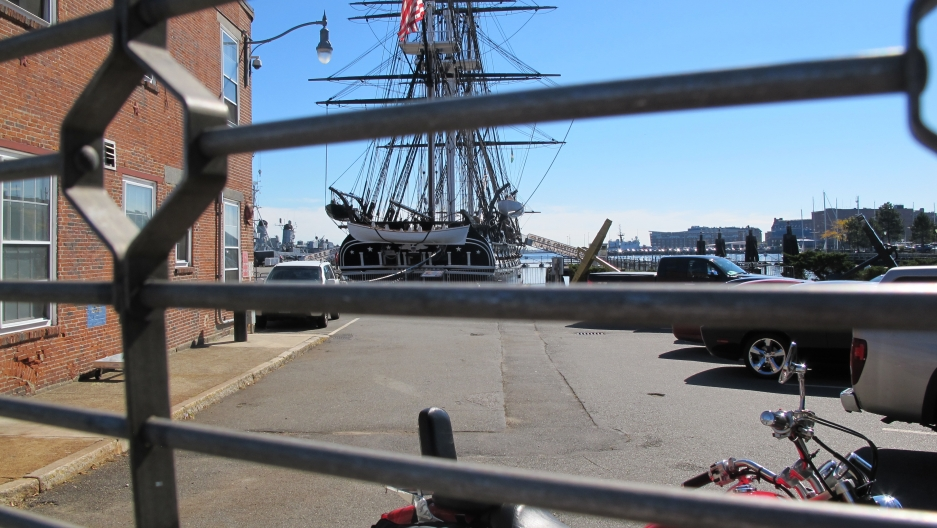 Tourists were being dropped off by the busload at the USS Constitution, and some were surprised to hear the ship was closed.