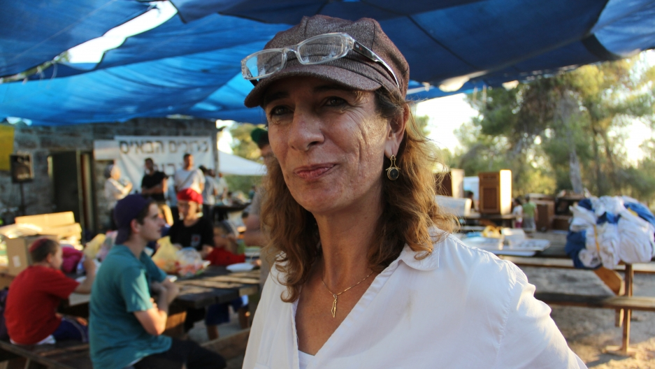 Nadia Matar, co-chair of Women in Green, one Jewish settler groups setting up Giv'at Oz veGa'on.