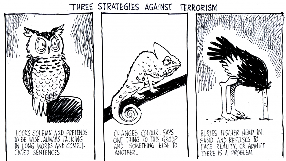 The strategies of Pakistan's major political and religious parties toward dealing with terrorism.