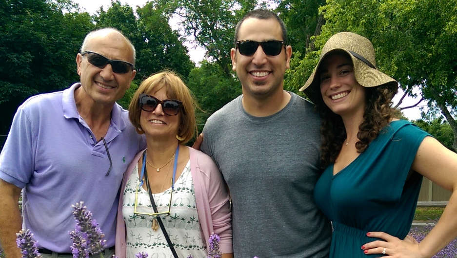 Serge Rosenbaum and family, owners of Lavender by the Sea.