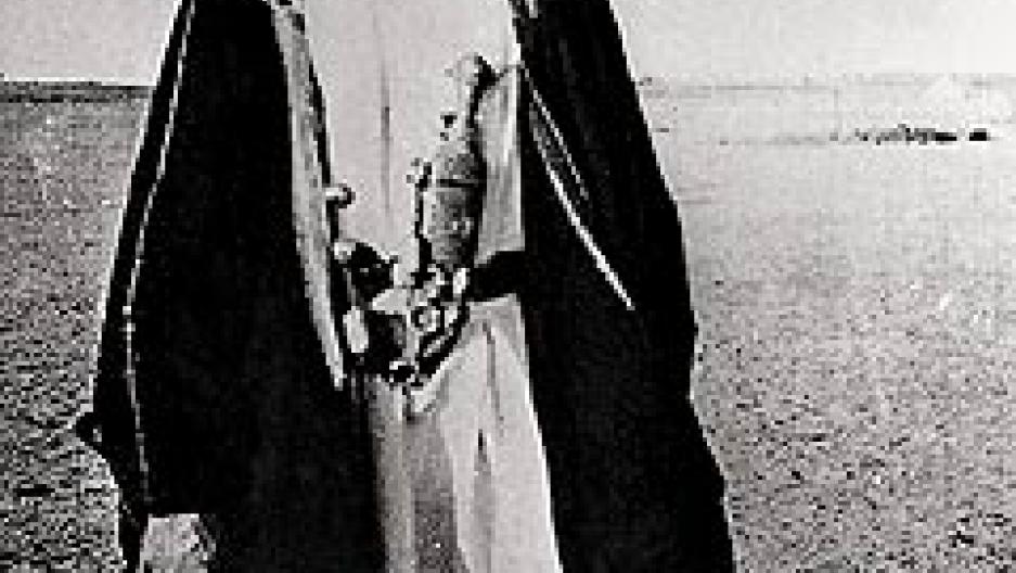 T.E. Lawrence at Rabegh, north of Jidda in Arabia, 1917