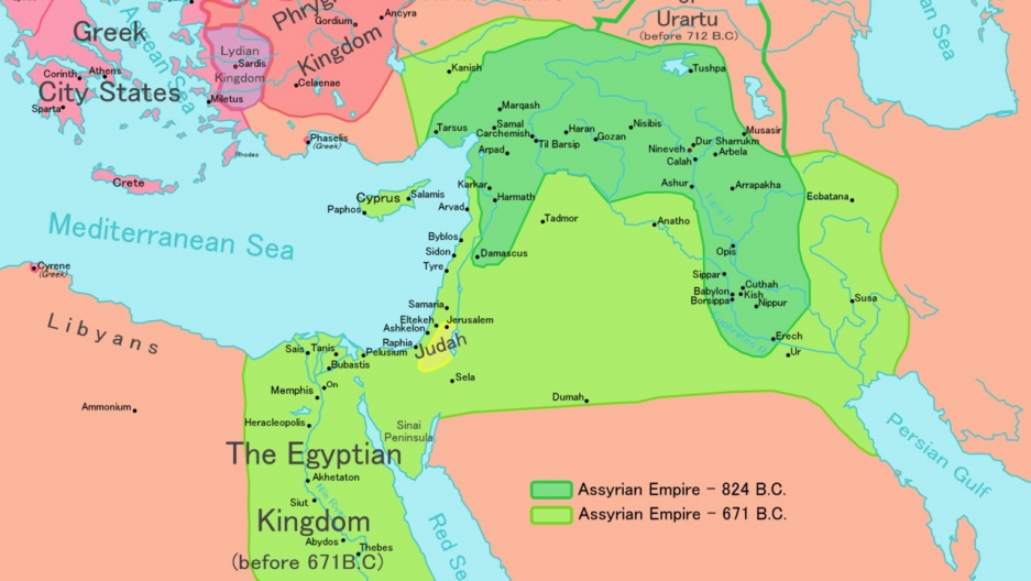Map of the Neo-Assyrian Empire