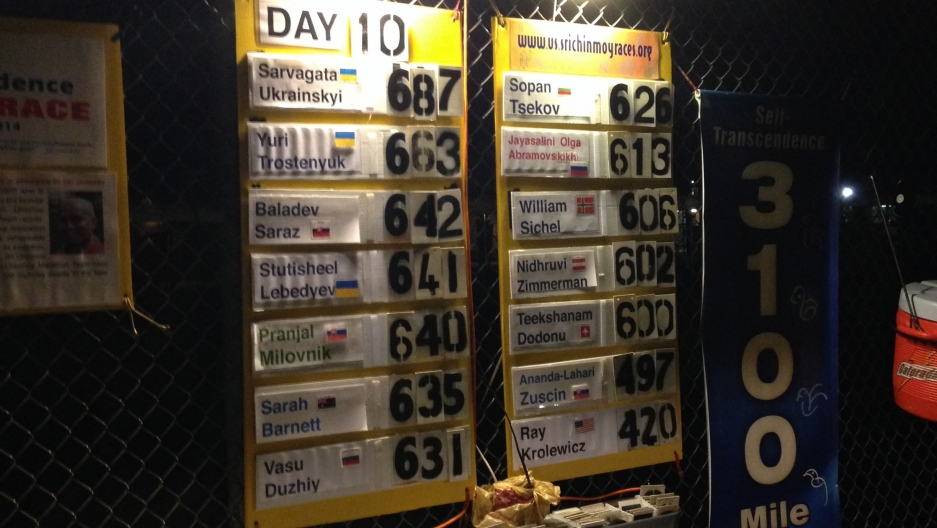 Mileage totals at the end of the 10th day.