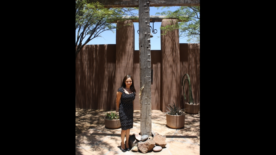 """Patricia Barceló was one of the many migrants who escaped from Central America in the 1980s. She sought protection from deportation at a church in Arizona. """"I have that sense of guilt that not everybody in my country got out,"""" says Barceló. """"They didn't h"""