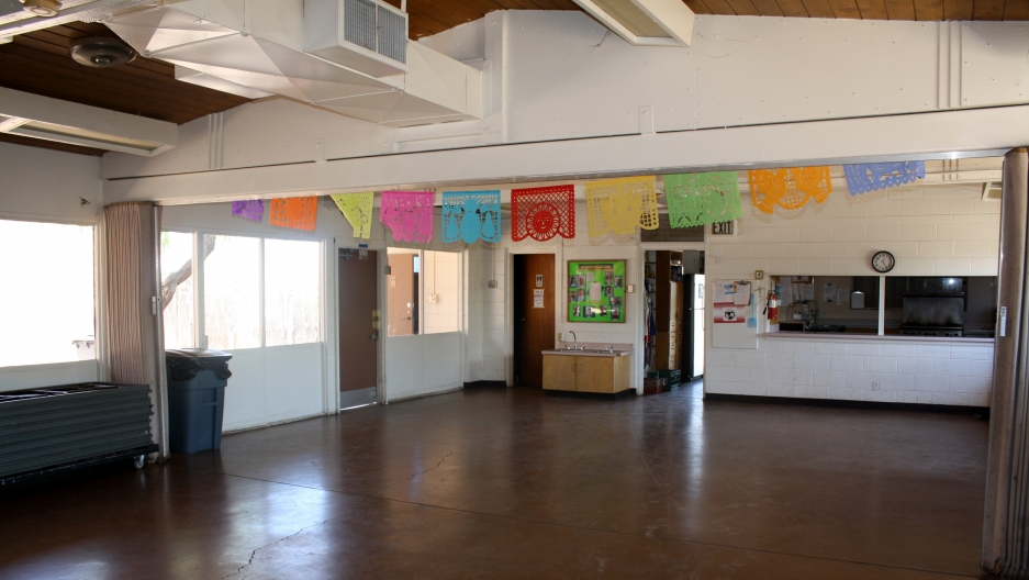 The church room where Central American migrants slept during the early  days of the sanctuary movement.