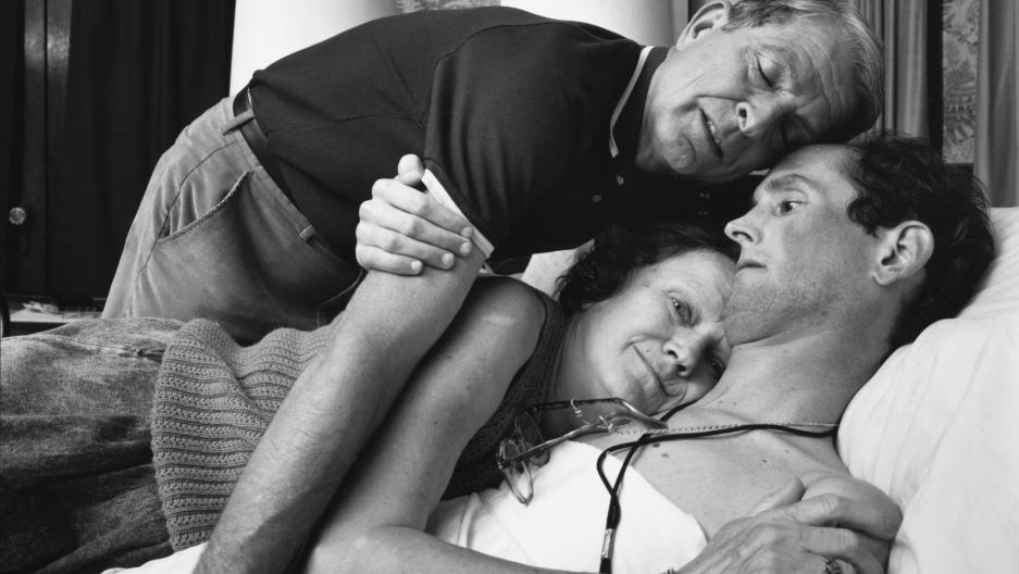 Ginny, Bob and Robert Sappenfield, Dorchester, MA, 1988