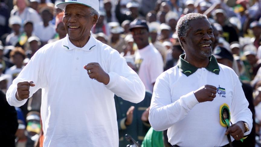 Nelson Mandela dancing