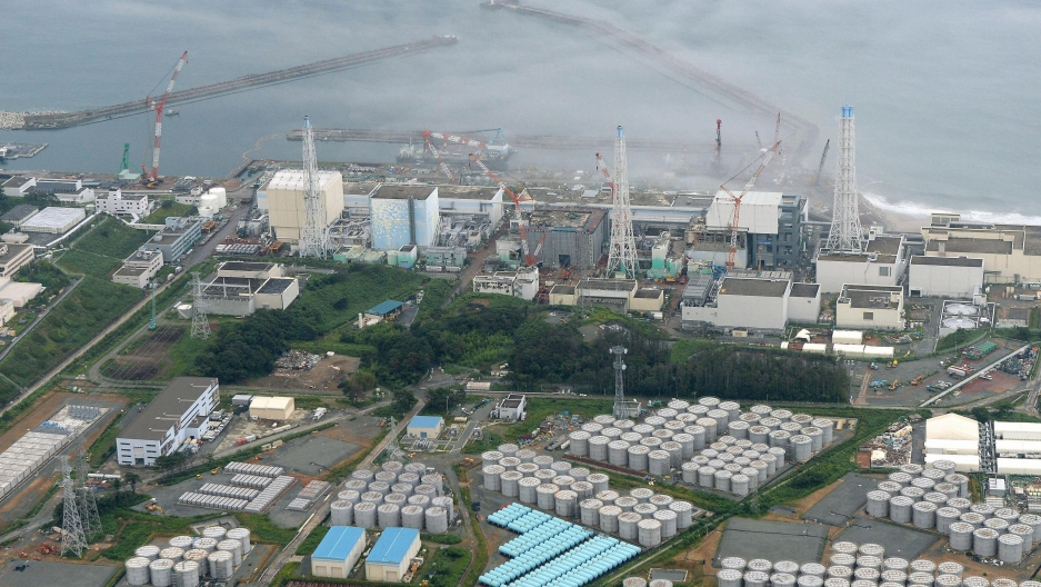 Nearly all of Japan's nuclear power plants have been offline since a tsunami caused meltdowns at three of the six reactors at the Fukushima Daiichi nuclear plant, shown here in a 2013 photo. Prior to the March, 2011 disaster, nuclear power produced roughl