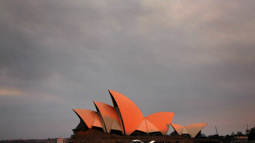 Smoke over opera house