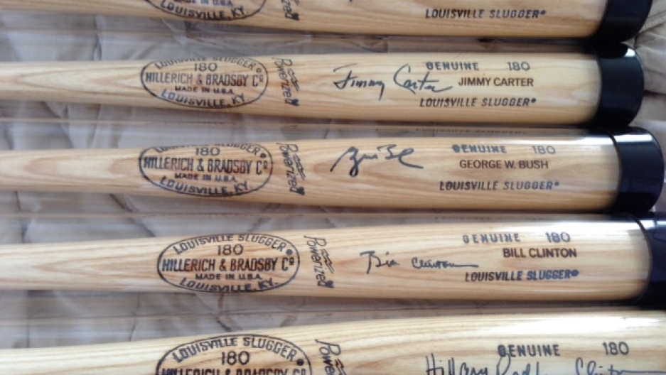Randy Kaplan recently expanded his collection to include customized baseball bats signed by US presidents and high-ranking officials.
