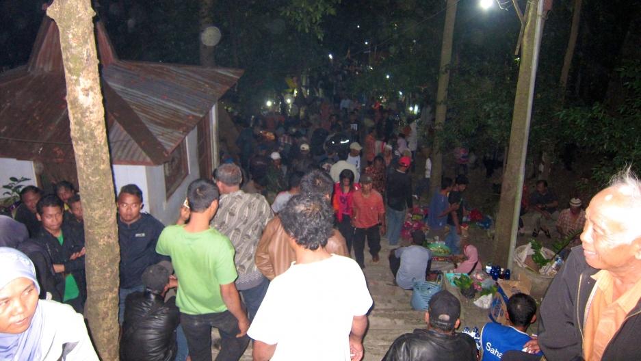 The Gunung Kemukus shrine is packed on the night of the ritual.