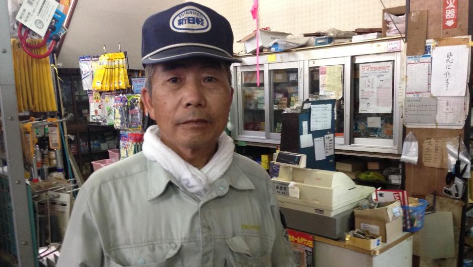 Shizuo Suzuki operates the only retail store open in Tomioka.
