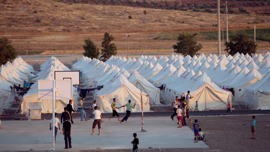 Syrians staying in a Turkish run camp in the town of Reyhanli in Hatay, Turkey.