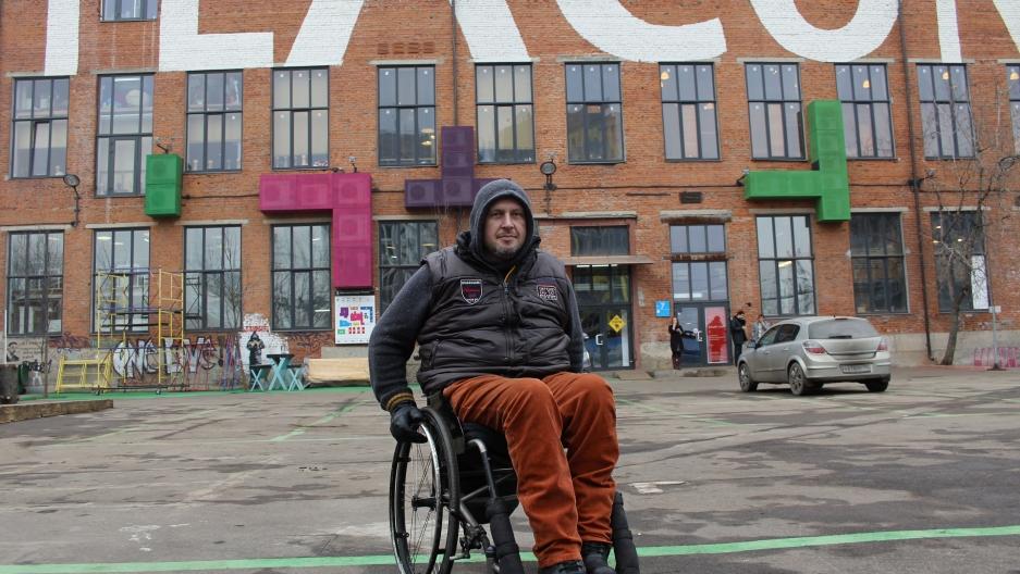 Igor Gakov says the key to getting around Moscow in a wheelchair is to be fearless and in really good shape.