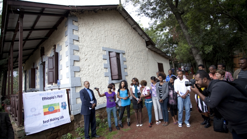 Studio presentation to the community in Addis Ababa.